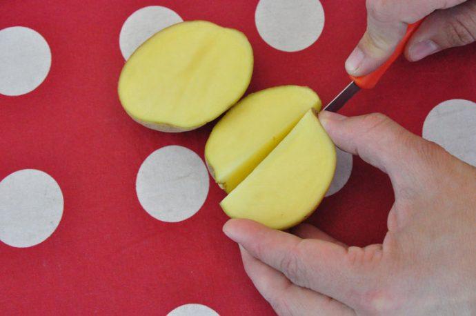 Wassermelone Kartoffeldruck - kinderleichtes DIY