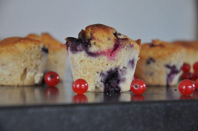 Buttermilch-Beeren Muffins Detail