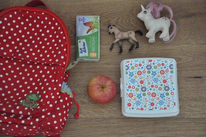 Inhalt der Kindergartentasche