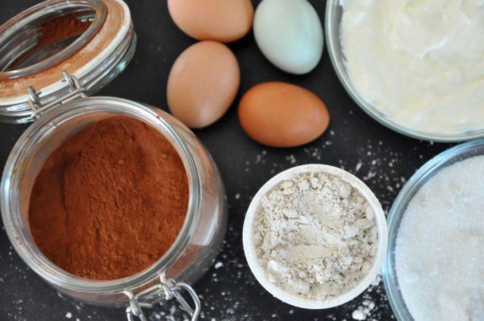 Zutaten für den glutenfreien Schokoladekuchen