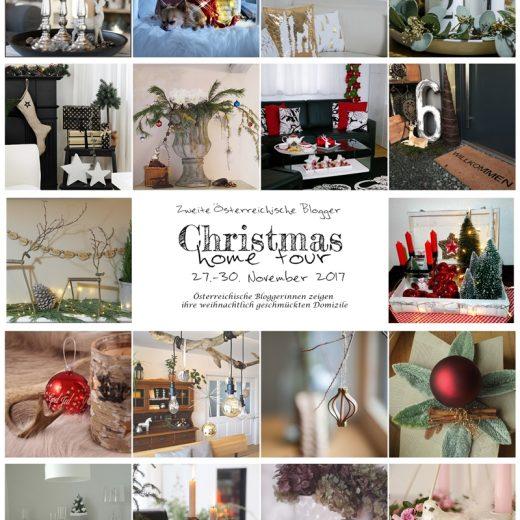 erste Einblicke in die weihnachtlich dekorierten Zu Hause der teilehmenden Bloggerinnen
