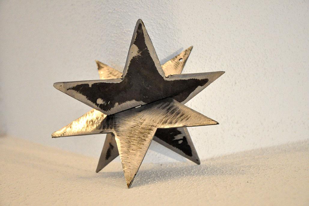 Metall Weihnachtsdekoration Steckstern 3D von Feinrost