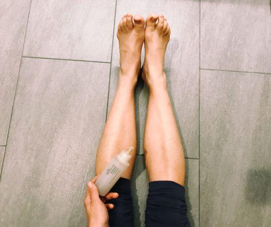5 Minuten Mama Wellness - für müde Mama Beine mit frischen Produkten von Ringana