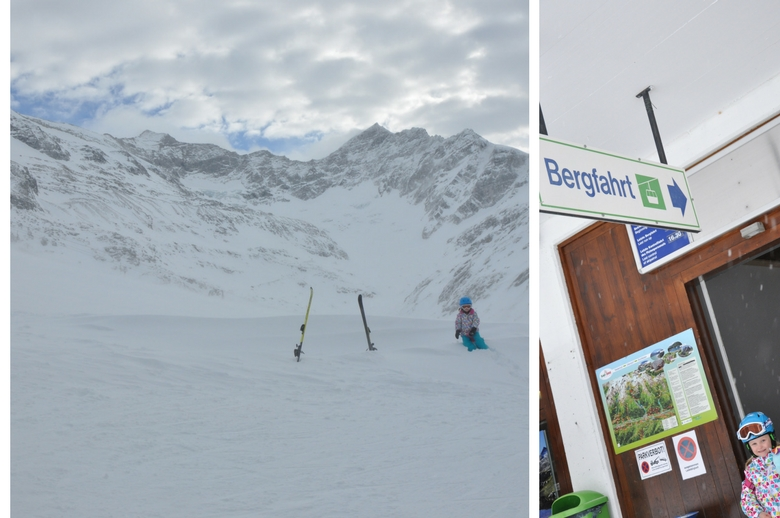 Schnee Schnee Schnee in der Gletscherwelt Weisssee Uttendorf in Mitten der hohen Tauern