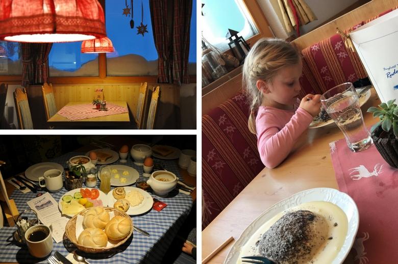 Essen im Berghotel Rudolfshütte in der Gletscherwelt Weisssee Uttendorf in Mitten der hohen Tauern