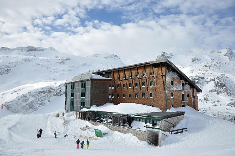 Berghotel Rudolfshütte in der Gletscherwelt Weisssee Uttendorf in Mitten der hohen Tauern