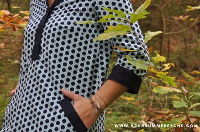 Wohlgefühl Tunikakleid Detail Patt-Tasche
