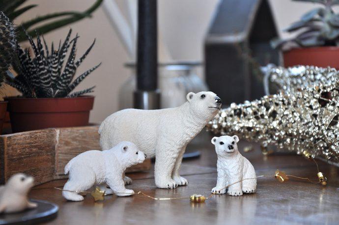 Eisbärenfamilie Schleich Winter Weihnachtsdekoration