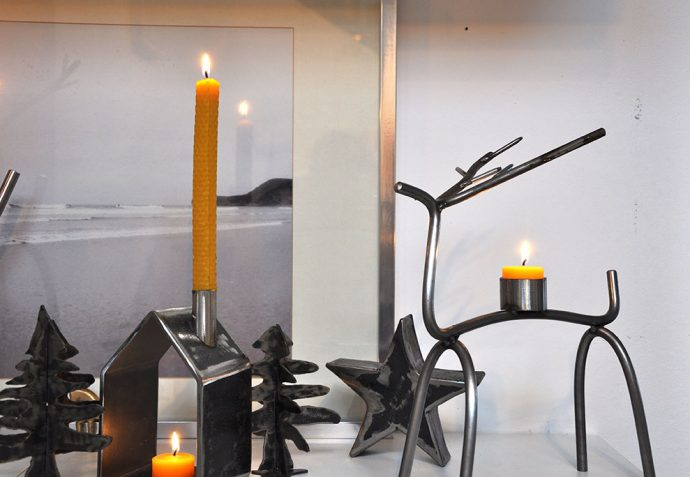 Feinrost Metall Rentier Kerzenständer