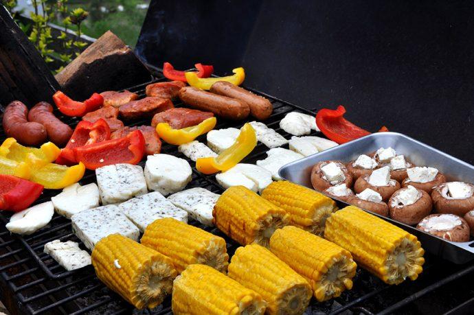 spontane vegane glutenfreie Grillparty - der Griller